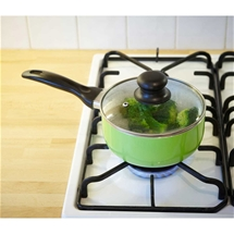 Ceramic-Coated Saucepan & Lid