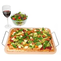 Premium Pizza Stone with Rack