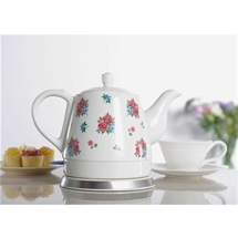 Porcelain Kettle Floral Design