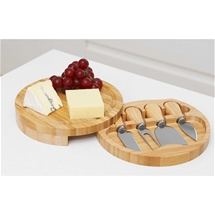 Bamboo Cheese Board with Tools