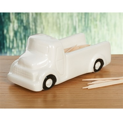 Toothpick Holder Ceramic Lorry